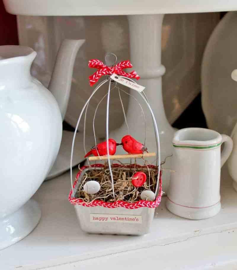 vintage tart pan bird cage