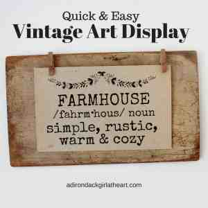 Quick & Easy Vintage Art Display