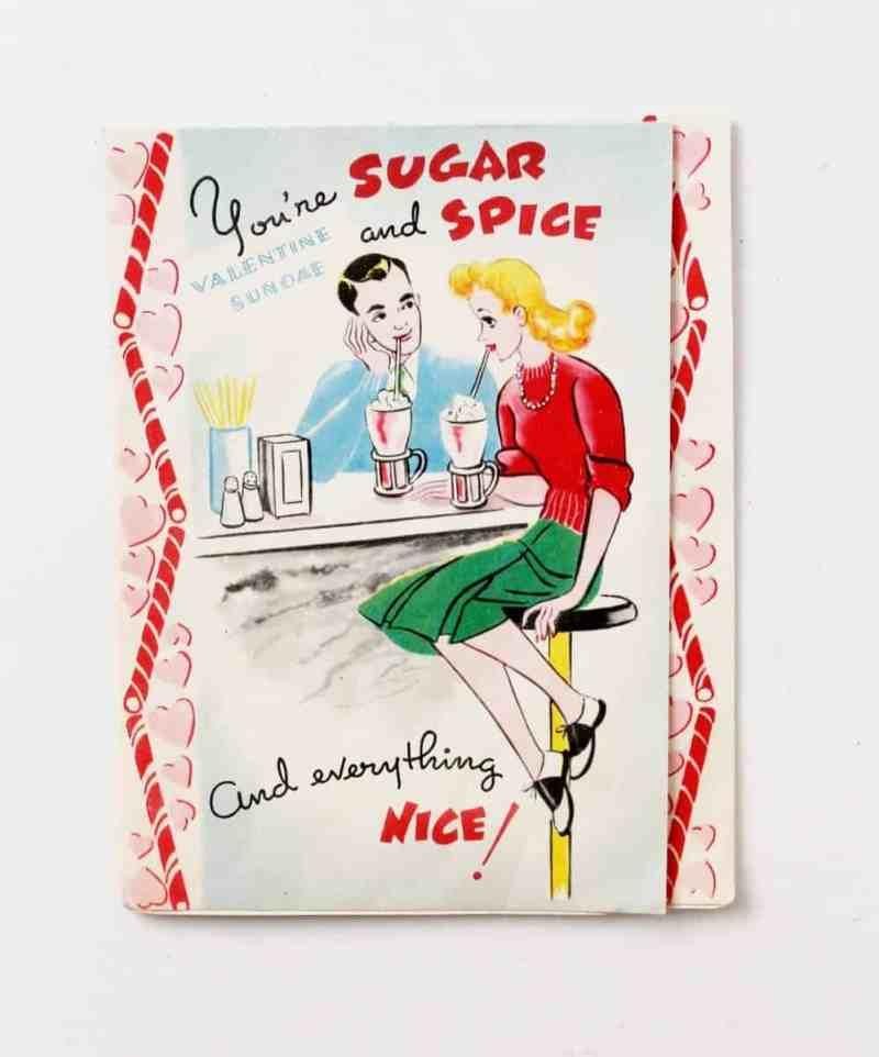 vintage soda parlor valentine's card