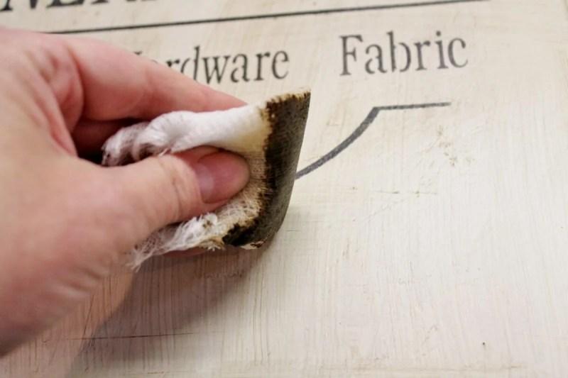 applying dark wax