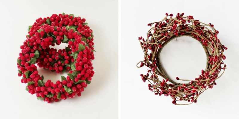 berry wreaths for accents