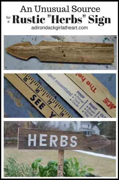 "Rustic ""Herbs"" Sign adirondackgirlatheart.com"