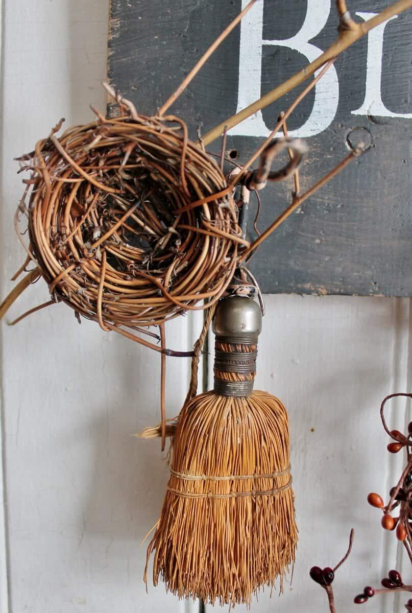 birds nest and broom