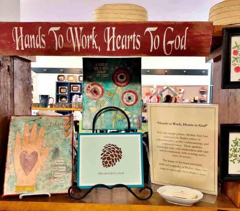 Simple Gifts Shaker shop Adirondack Girl @ Heart product line mixed media art