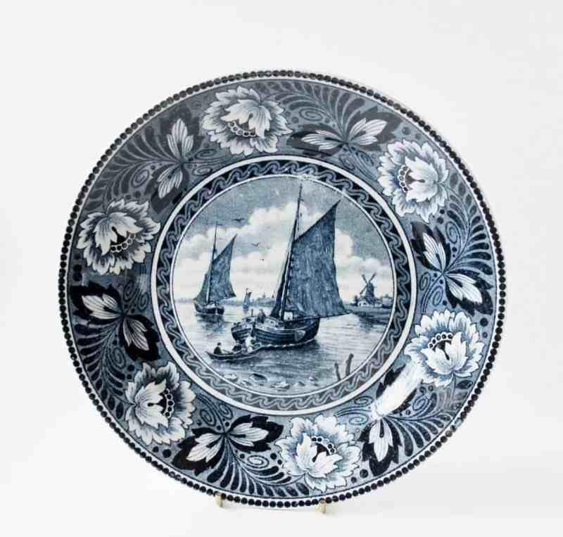 Antique Societe Ceramique Maestricht Transferware Plate
