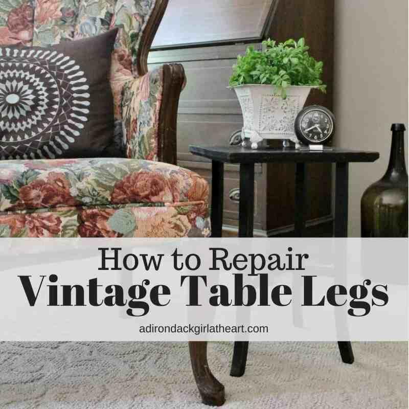 How to Repair Vintage Table Legs adirondackgirlatheart.com