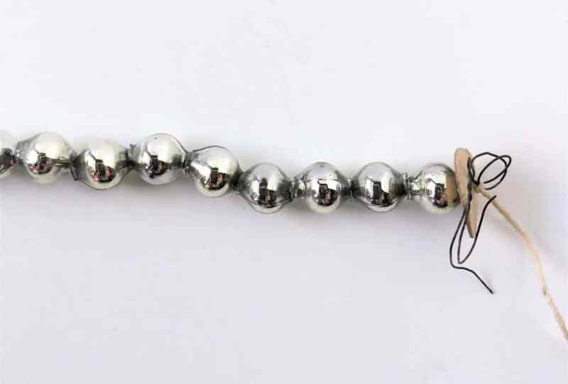 Vintage mercury glass beads
