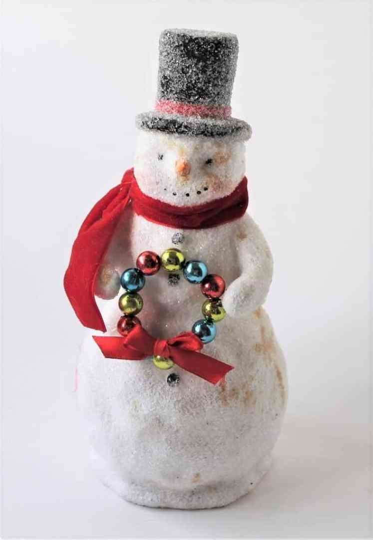 Vintage style snowman