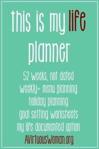 """This is My Life"" Planner by A Virtuous Woman Review"