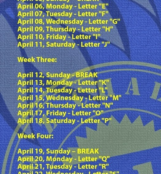 A-to-Z-Challenge-Letter-Schedule-2015