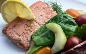 Lemon and Dill Salmon with Herb Salad