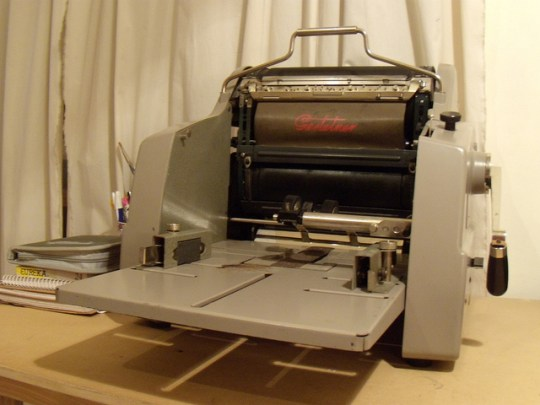 A Mimeo Machine about the same vintage as mine.