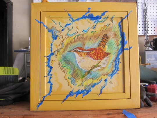 Wren Painting by Liv circa 1990