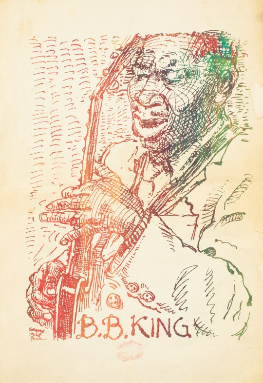 BB King on Paper