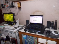 My precious with home PC next to it.