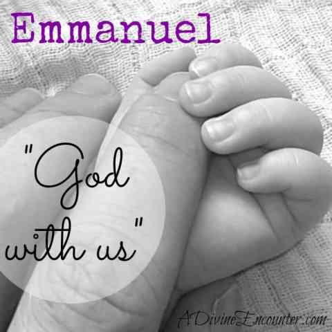 What does Christmas really mean? It's summed up in one name: Emmanuel, God with us. A baby born to die, so He could rise again and become God IN us. https://adivineencounter.com/emmanuel