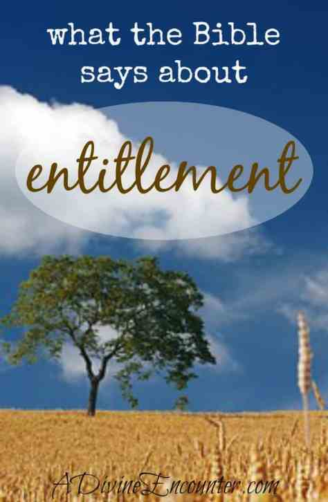 Excellent and reflective post considers what the Bible says about entitlement. What do we deserve, and what is grace? A must-read for Christians! (Philippians 2:3) https://adivineencounter.com/entitlement