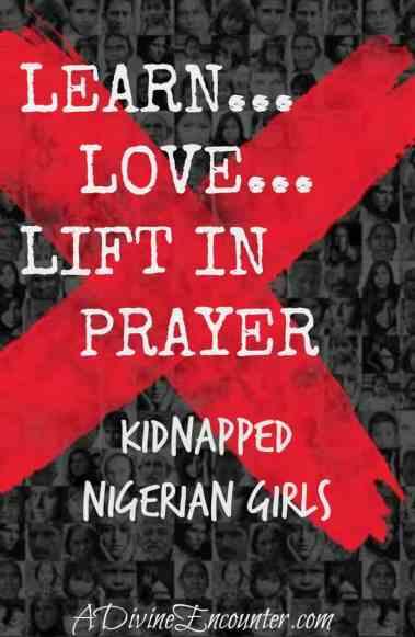 #bringbackourgirls (Luke 4:18-19) https://adivineencounter.com/learn-love-lift-in-prayer-kidnapped-Nigerian-girls