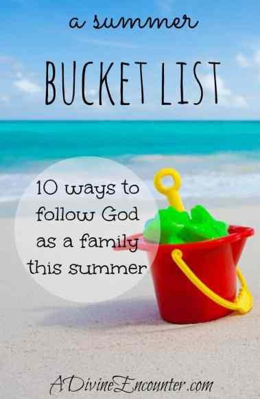 A Summer Bucket List - Christian bucket list