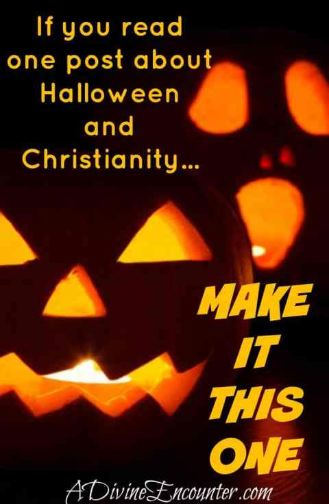 If you read one article about Halloween and Christianity, make it this one! Offers a fresh perspective, biblical principles, & a fantastic idea for families! (Matthew 5:13-16) https://adivineencounter.com/to-treat-or-not-to-treat