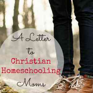 A Letter to Christian Homeschooling Moms