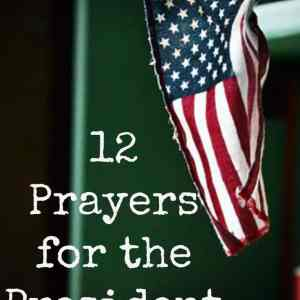 Praying the Scriptures: Prayers for the President