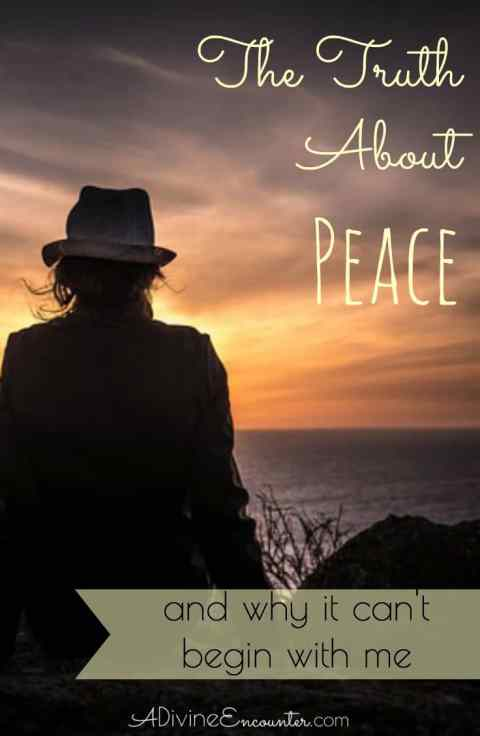Humans have an innate longing for peace. But where does it come from? Can it begin with me? Insightful post examines the truth about peace.