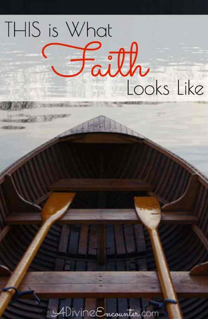 Poignant post examines what faith looks like from a biblical perspective, using the real life illustration of a family walking by faith.