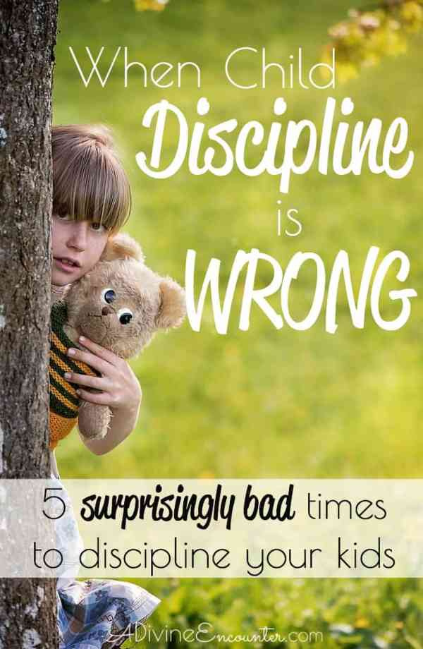 While the Bible teaches Christian parents to discipline their children, it's important to do so with care. Here are 5 times when child discipline is wrong.