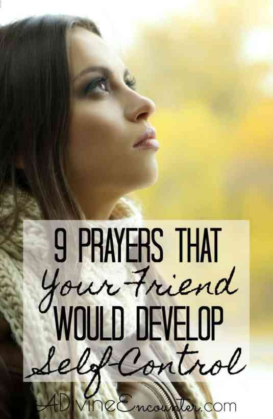 Prayers That Your Friend Would Develop Self-Control