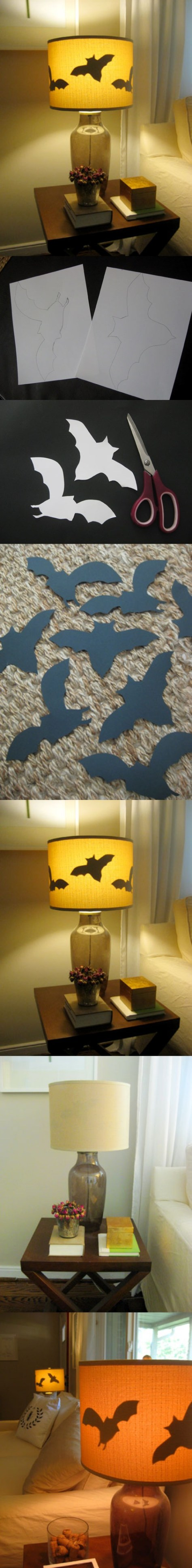 5. Paper Bats For Lamp Shades