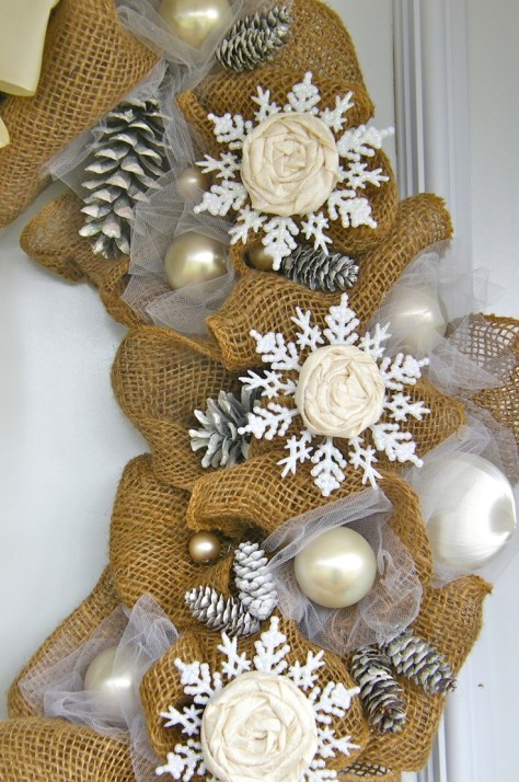 Burlap Christmas Decorations