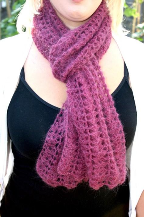 Free Lacy Crochet Scarf Pattern