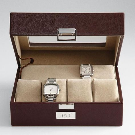 Mens Leather Watch Case