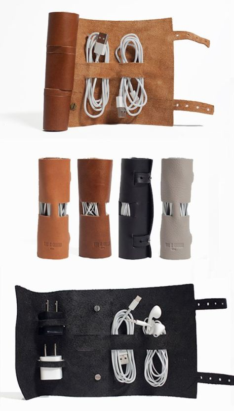 Leather Cord Management