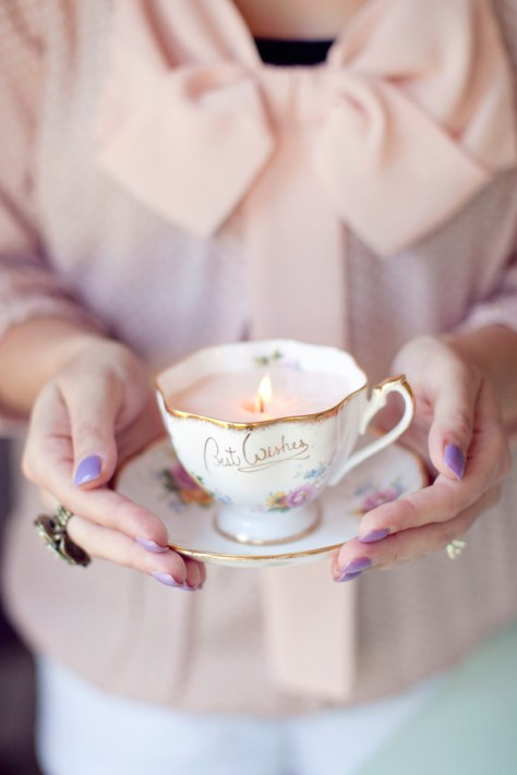 Vintage DIY Teacup Candles