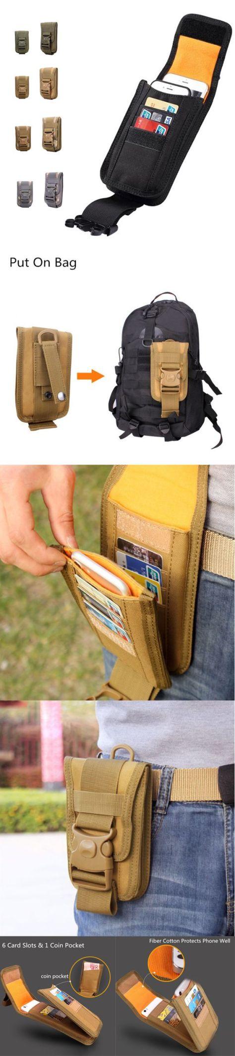 Outdoor Tactical Phone Holder Card & Coin Pocket For Men