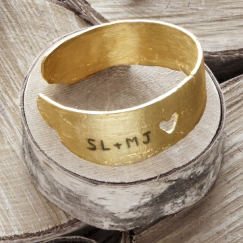 Personalized Birch Love Cuff