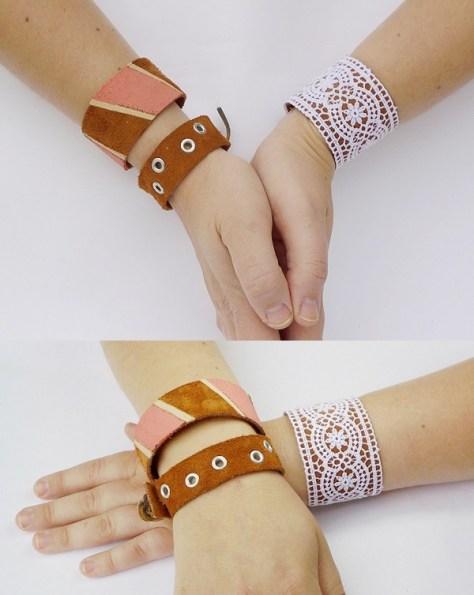 DIY Leather Cuffs