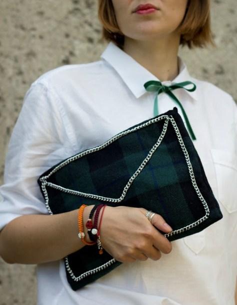 DIY Checked Woolen Bag