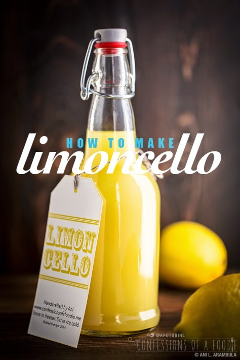 DIY Handcrafted Limoncello