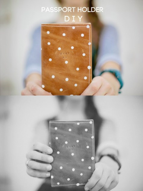 DIY Leather Passport Covers