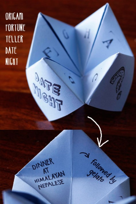 Origami Fortune Teller Gift Idea for Date Night