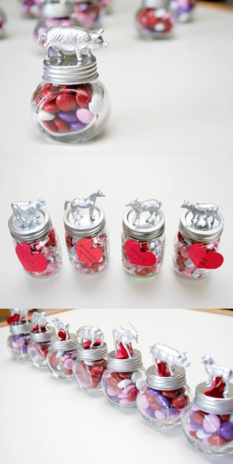 DIY Animal Jar Valentines Made With Love