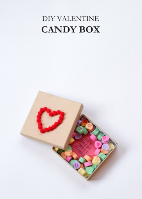 DIY Valentine Candy Box