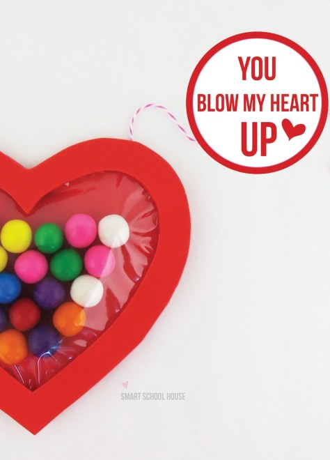 You Blow My Heart Up DIY Bubble Gum Valentine Craft