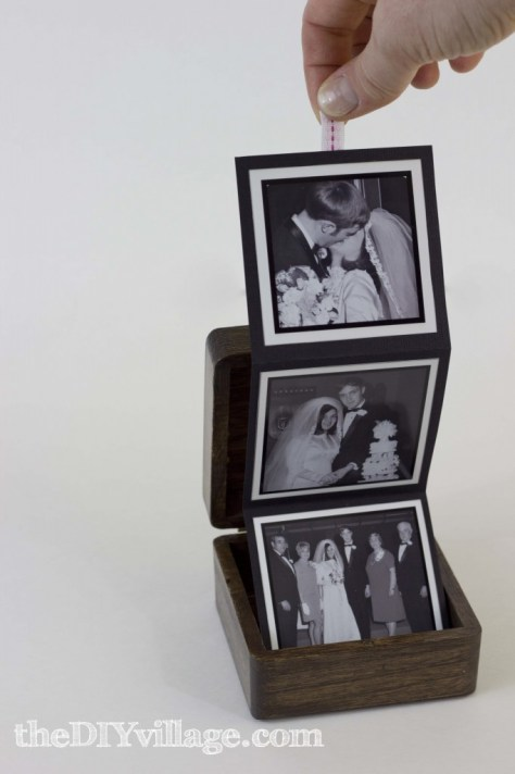 DIY Pull Out Photo Box