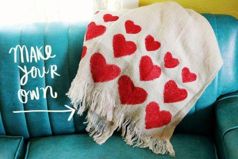 DIY Heart Blanket