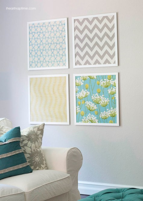 DIY Fabric Wall Art Ideas