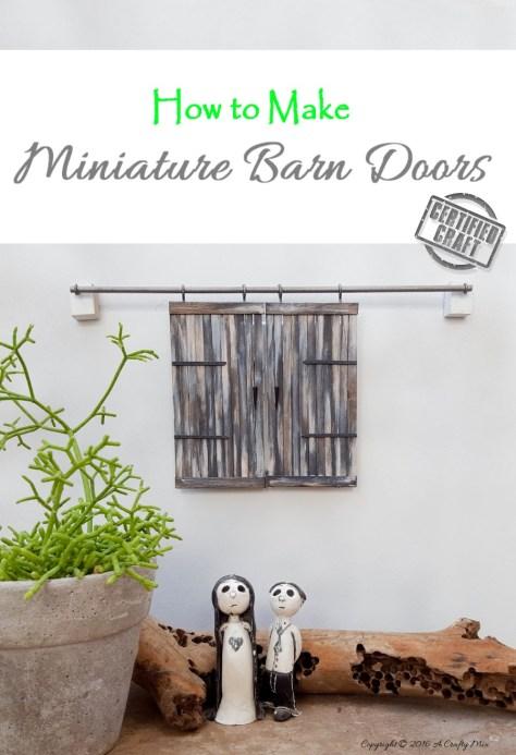 DIY Miniature Barn Door